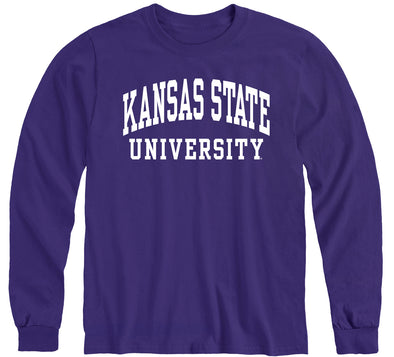 Kansas State University Classic Long Sleeve T-Shirt (Purple)