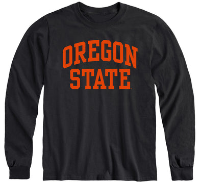 Oregon State University Classic Long Sleeve T-Shirt (Black)