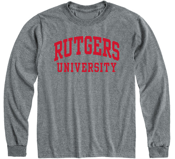 Rutgers University Classic Long Sleeve T-Shirt (Charcoal Grey)