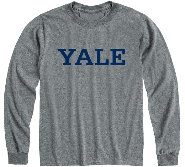 Yale Classic Long Sleeve T-Shirt (Charcoal Grey)