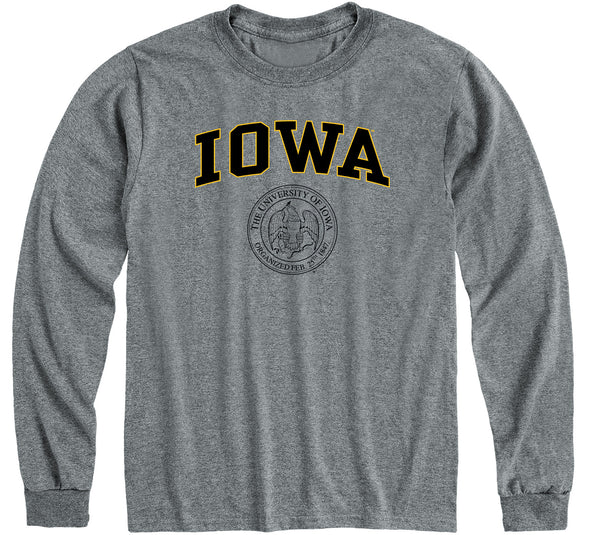 University of Iowa Heritage Long Sleeve T-Shirt (Charcoal Grey)