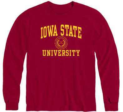 Iowa State University Heritage Long Sleeve T-Shirt (Cardinal)