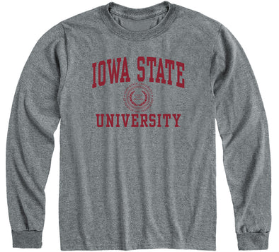 Iowa State University Heritage Long Sleeve T-Shirt (Charcoal Grey)