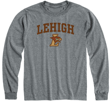 Lehigh University Heritage Long Sleeve T-Shirt (Charcoal Grey)