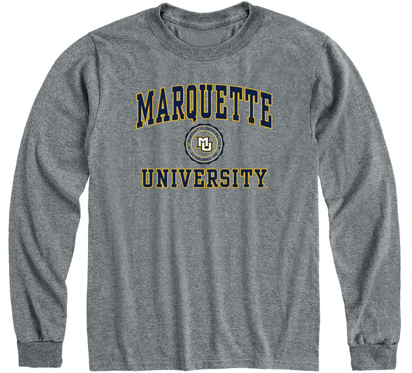 Marquette University Heritage Long Sleeve T-Shirt (Charcoal Grey)