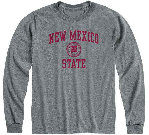 New Mexico State University Heritage Long Sleeve T-Shirt (Charcoal Grey)
