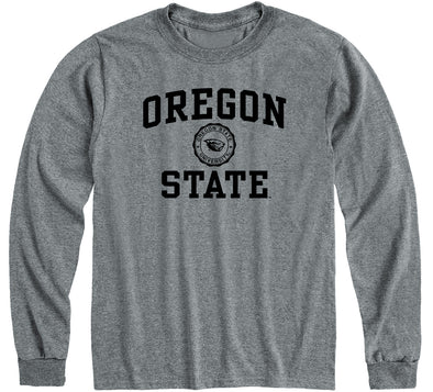 Oregon State University Heritage Long Sleeve T-Shirt (Charcoal Grey)