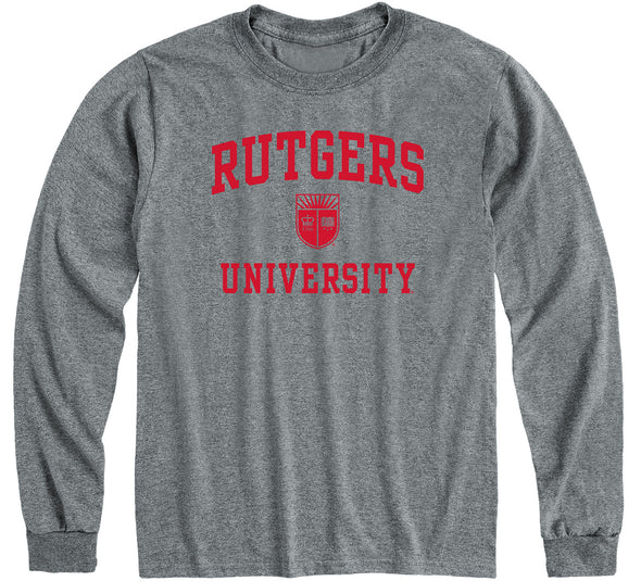 Rutgers University Heritage Long Sleeve T-Shirt (Charcoal Grey)