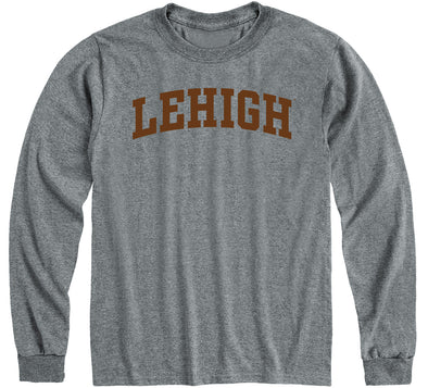 Lehigh University Classic Long Sleeve T-Shirt (Charcoal Grey)