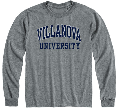 Villanova University Classic Long Sleeve T-Shirt (Charcoal Grey)