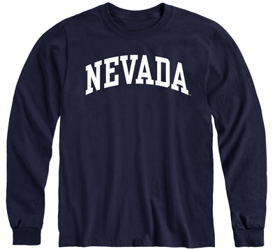 University of Nevada Reno Classic Long Sleeve T-Shirt (Navy)