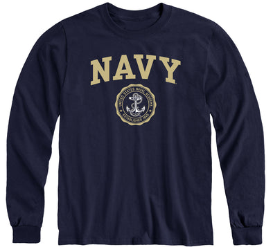 Navy Heritage Long Sleeve T-Shirt (Navy)