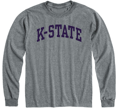 Kansas State University Classic Long Sleeve T-Shirt (Charcoal Grey)