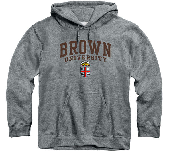 Brown Heritage Hooded Sweatshirt (Charcoal Grey)