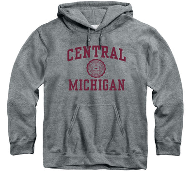 Central Michigan University Heritage Hooded Sweatshirt (Charcoal Grey)