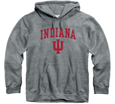Indiana University Heritage Hooded Sweatshirt (Charcoal Grey)