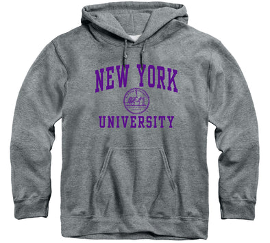New York University Heritage Hooded Sweatshirt (Charcoal Grey)