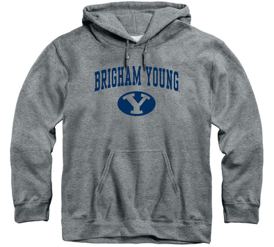 Brigham Young University Heritage Hooded Sweatshirt (Charcoal Grey)