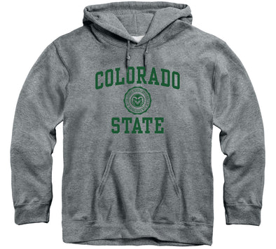 Colorado State University Heritage Hooded Sweatshirt (Charcoal Grey)
