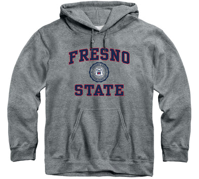 California State University Fresno Heritage Hooded Sweatshirt (Charcoal Grey)