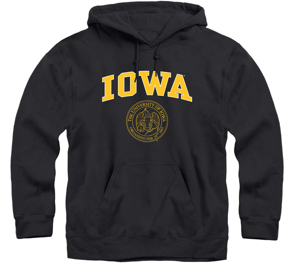 University of Iowa Heritage Hooded Sweatshirt (Black)