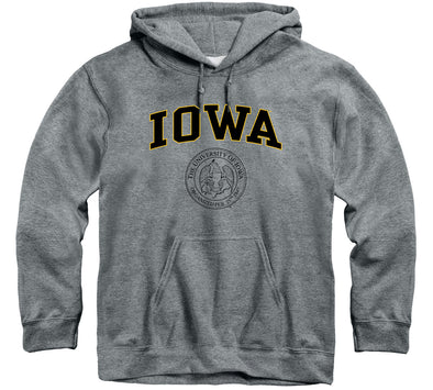 University of Iowa Heritage Hooded Sweatshirt (Charcoal Grey)
