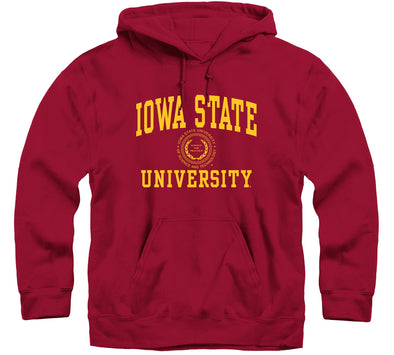 Iowa State University Heritage Hooded Sweatshirt (Cardinal)