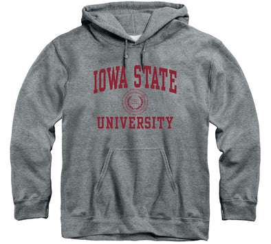 Iowa State University Heritage Hooded Sweatshirt (Charcoal Grey)