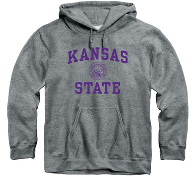 Kansas State University Heritage Hooded Sweatshirt (Charcoal Grey)