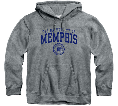 The University of Memphis Heritage Hooded Sweatshirt (Charcoal Grey)