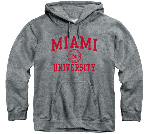 Miami University Heritage Hooded Sweatshirt (Charcoal Grey)