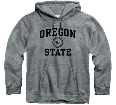 Oregon State University Heritage Hooded Sweatshirt (Charcoal Grey)