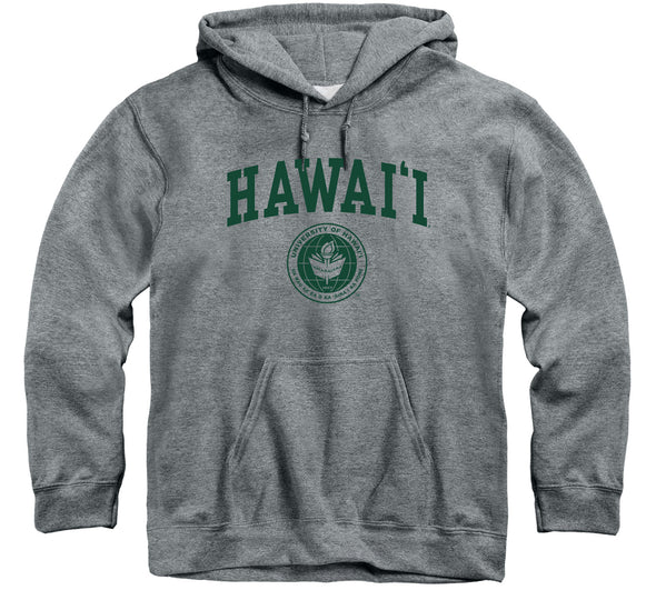 University of Hawaii Heritage Hooded Sweatshirt (Charcoal Grey)