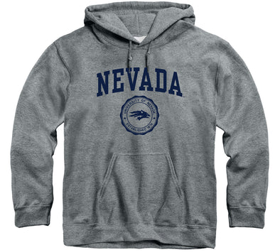 University of Nevada Reno Heritage Hooded Sweatshirt (Charcoal Grey)