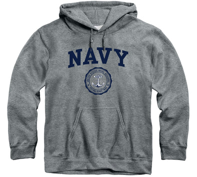 Navy Heritage Hooded Sweatshirt (Charcoal Grey)