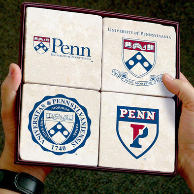 Penn Logos 4 Coaster Set