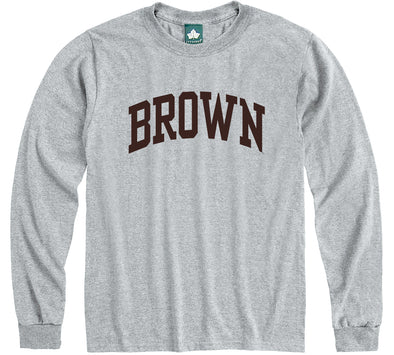 Brown Classic L/S T-Shirt (Heather Grey)