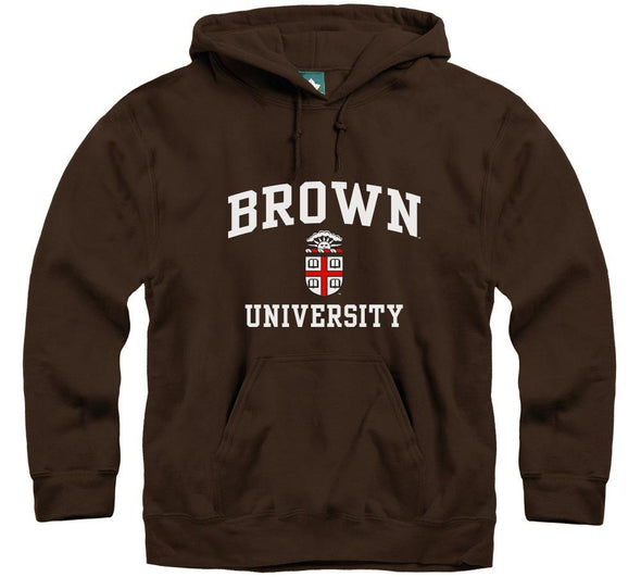Brown Crest Hooded Sweatshirt (Brown)