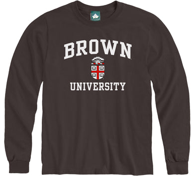 Brown Crest Long Sleeve T-Shirt (Brown)