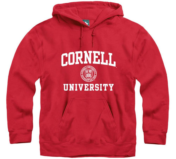 Cornell Crest Hooded Sweatshirt (Red)