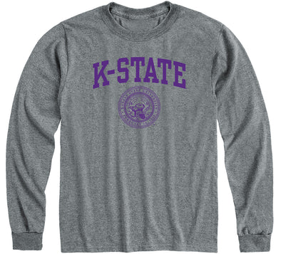 Kansas State University Heritage Long Sleeve T-Shirt (Charcoal Grey)