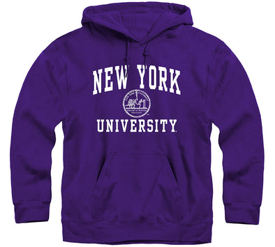 New York University Heritage Hooded Sweatshirt (Violet)