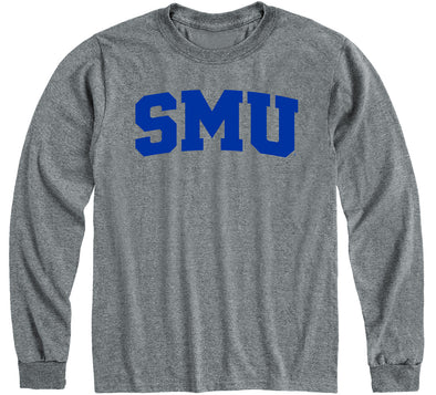 Southern Methodist University Classic Long Sleeve T-Shirt (Charcoal Grey)