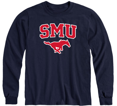 Southern Methodist University Heritage Long Sleeve T-Shirt (Navy)