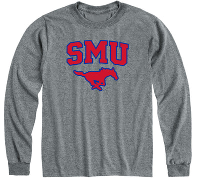 Southern Methodist University Heritage Long Sleeve T-Shirt (Charcoal Grey)