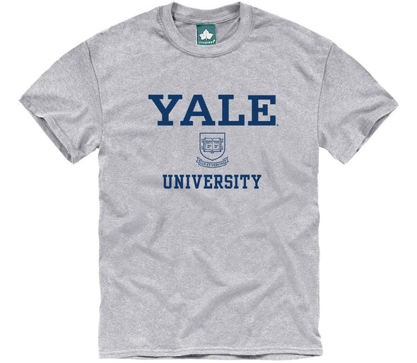 Yale Crest T-Shirt (Heather Grey)