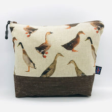 Load image into Gallery viewer, Duck Makeup Bag, Cosmetics Case, British Handcrafted Gift