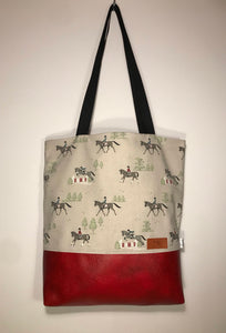 Horse Show Jumping Tote Bag