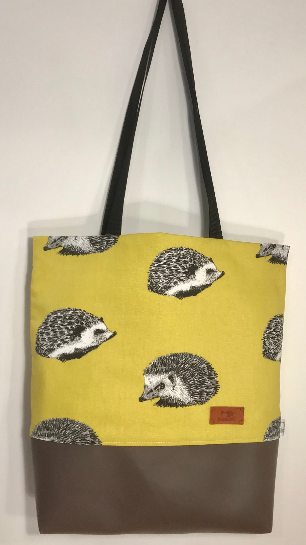 Hedgehog Yellow Tote Bag