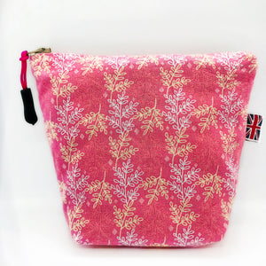 Flowers Pink Leaves Bag